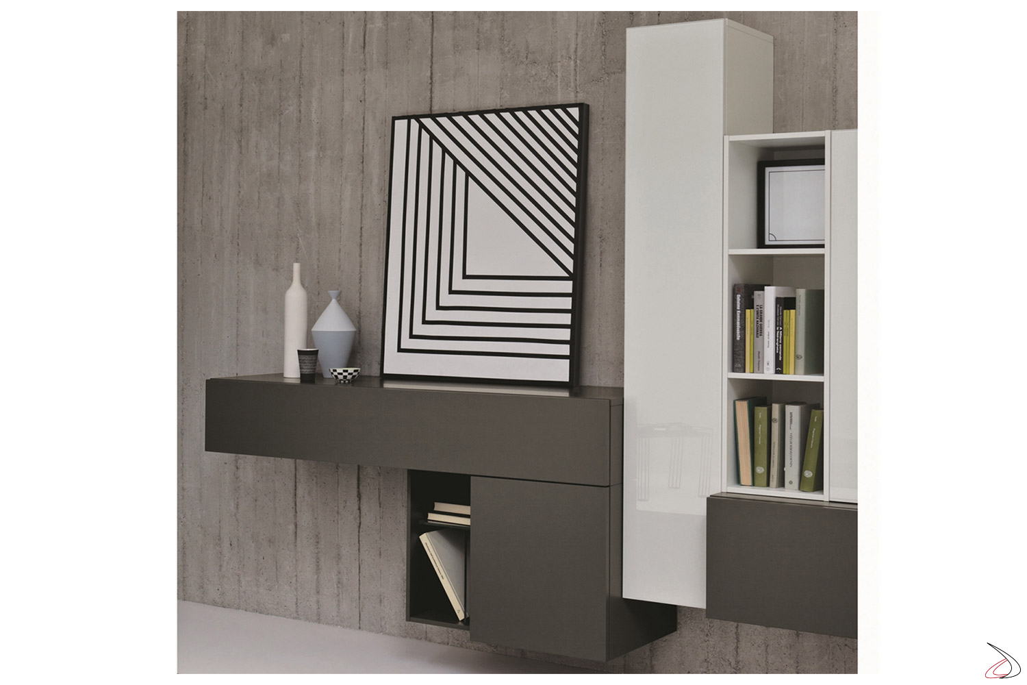 Wall unit for the living room