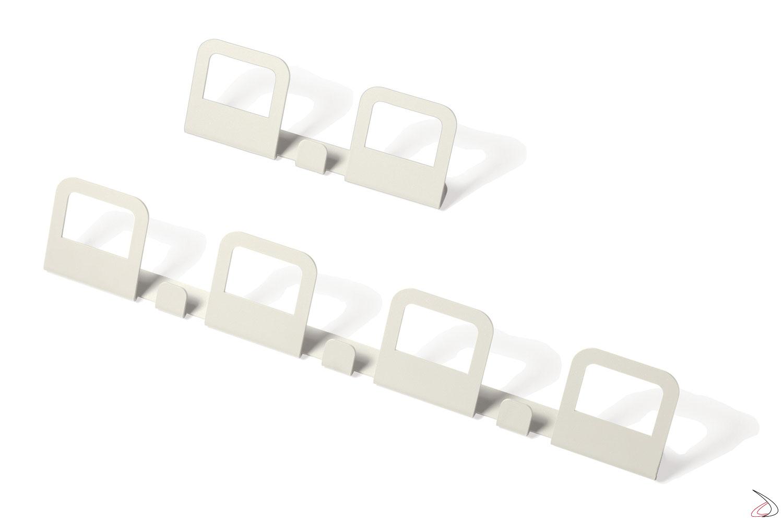 Appendino di design da muro in colore bianco