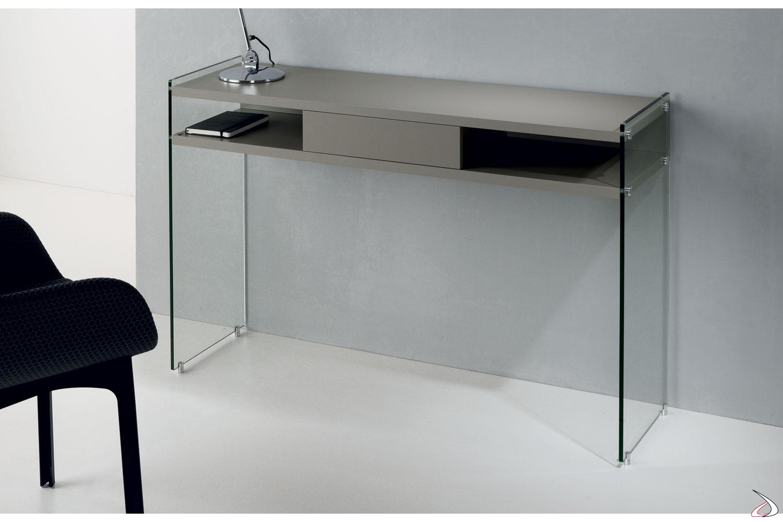 Consolle moderna con cassetto maya toparredi arredo for Consolle in vetro