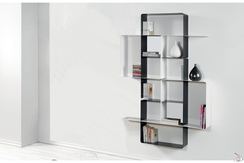 Librerie In Metallo Componibili.Libreria Componibile In Metallo Colorato Mondrian Toparredi
