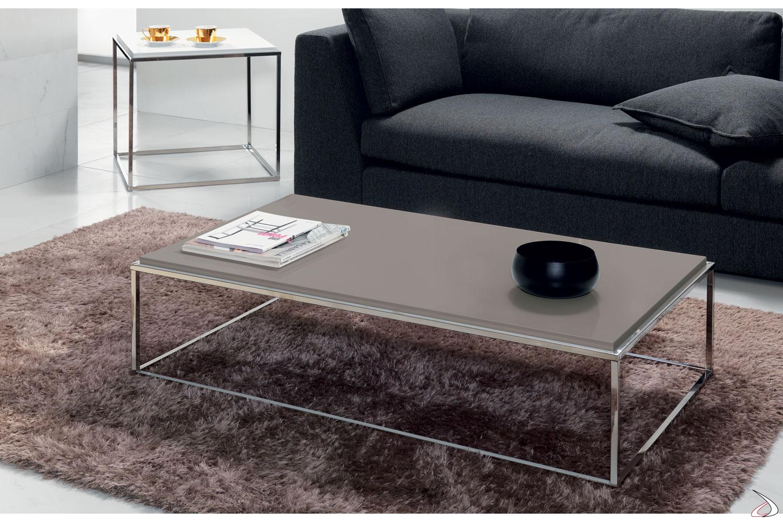 Tavolino basso rettangolare da salotto