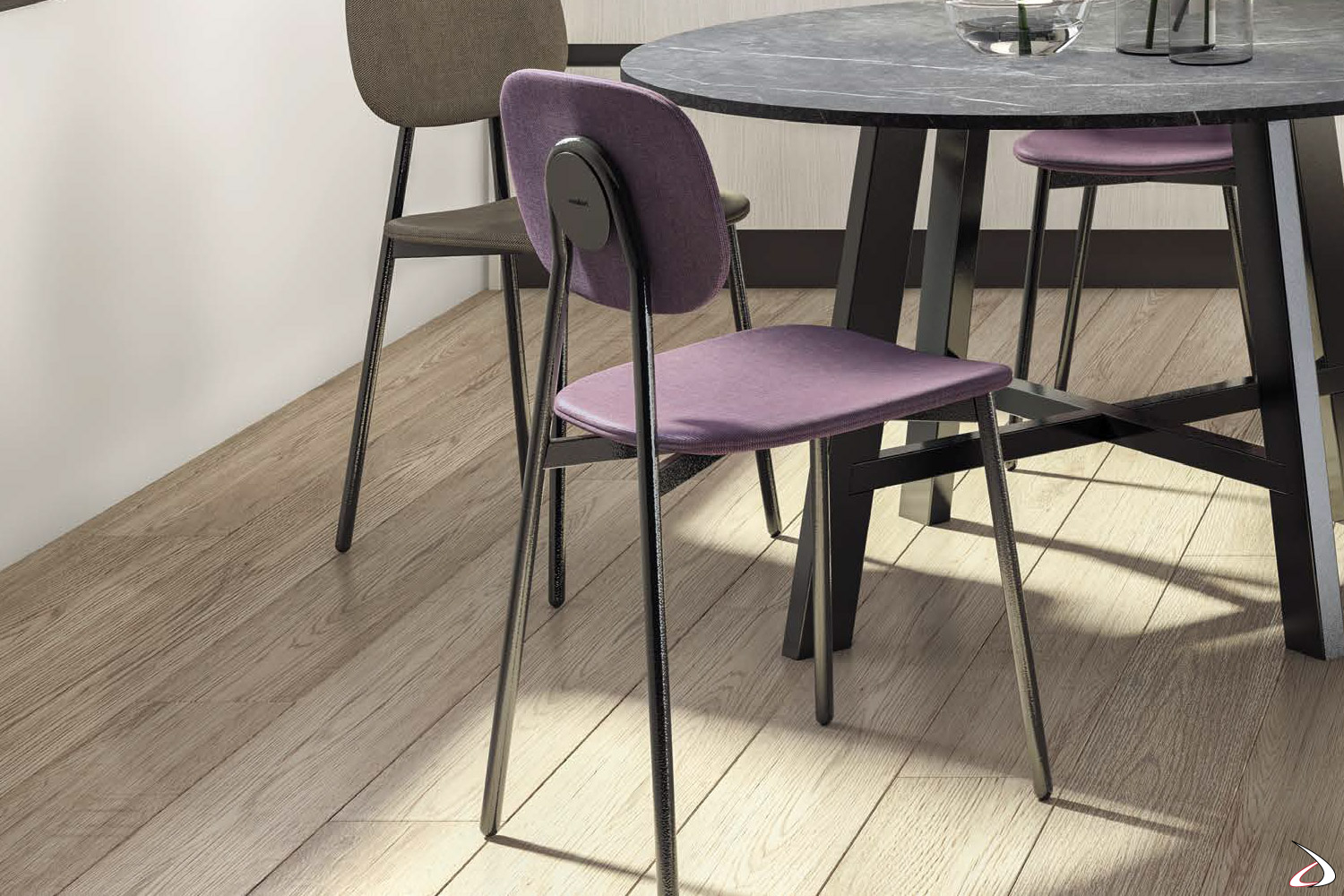 Tavolo Con Sedie Colorate.Tata 4 Chair With Simple Seat Suitable For Every Taste Toparredi