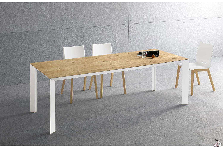Tavolo Legno Rovere Naturale.Diamante Extendable Living Table Toparredi Arredo Design Online