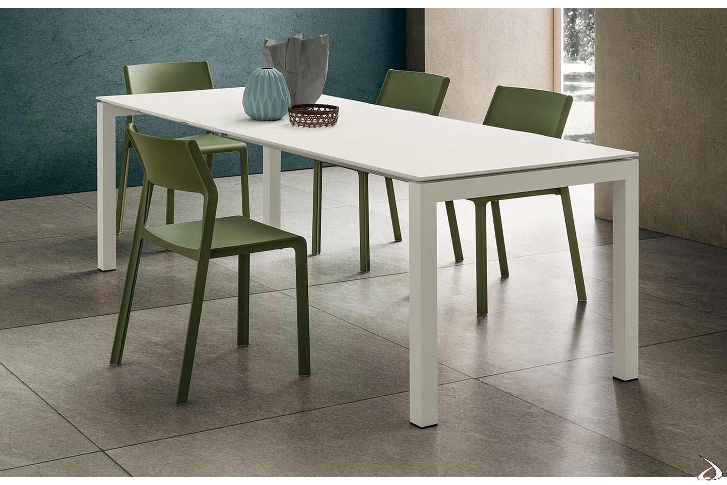 Tavoli Allungabili In Alluminio.Papu Extendable Table For Living Room Toparredi Arredo Design