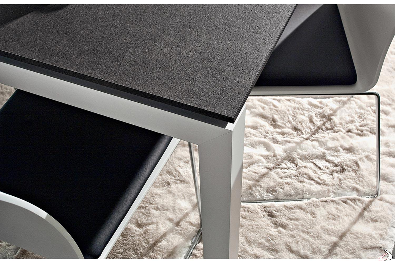 Gambe In Alluminio Per Tavoli.Papu Extendable Table For Living Room Toparredi Arredo Design
