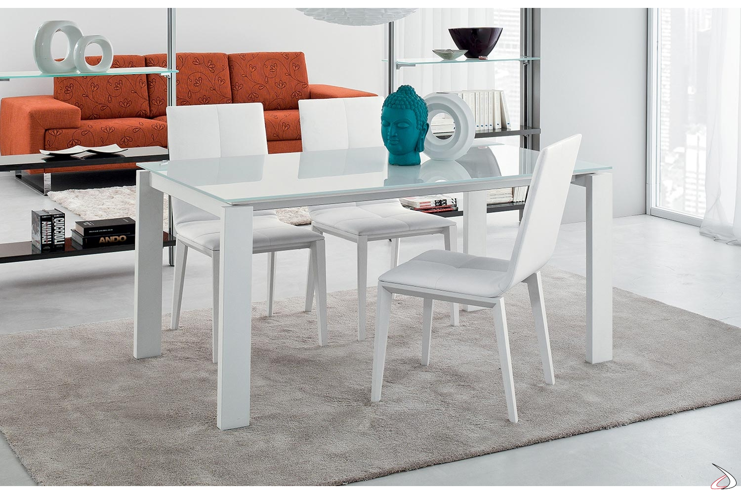 Tavolo In Vetro Bianco Allungabile.Design Golia Table In Porcelain Stoneware For Living Rooms