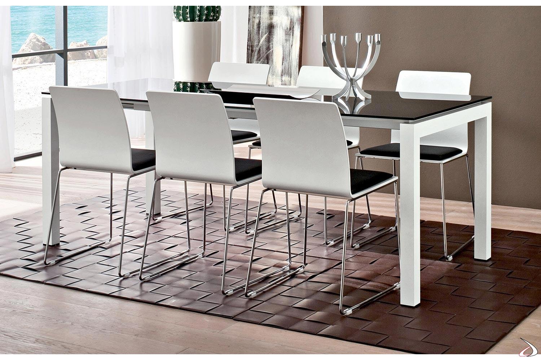 Tavolo In Vetro Nero Allungabile.Papu Extendable Table For Living Room Toparredi Arredo Design