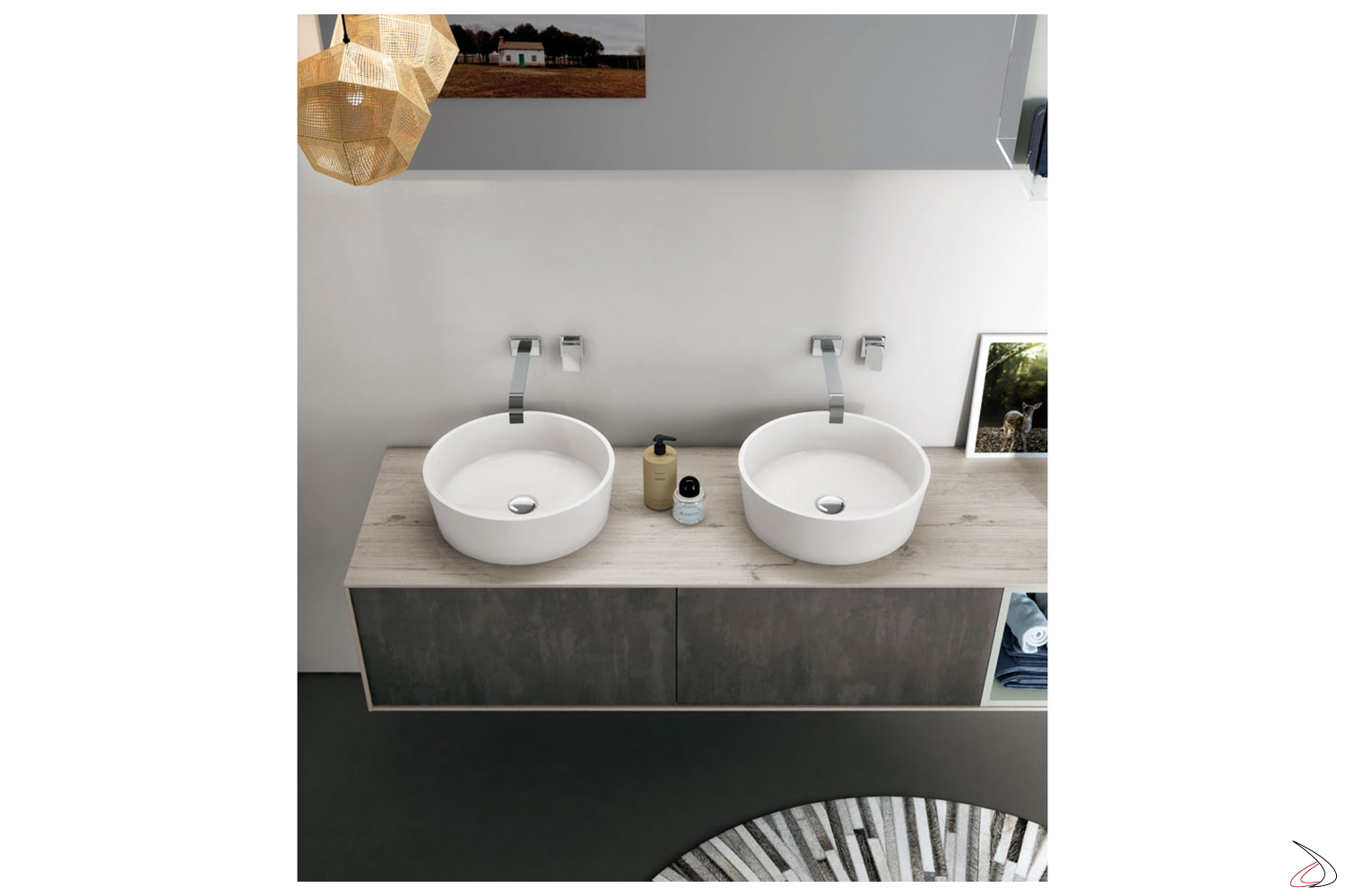 Wang Bathroom Cabinet With Double Sink Wall Units And Drawers Toparredi