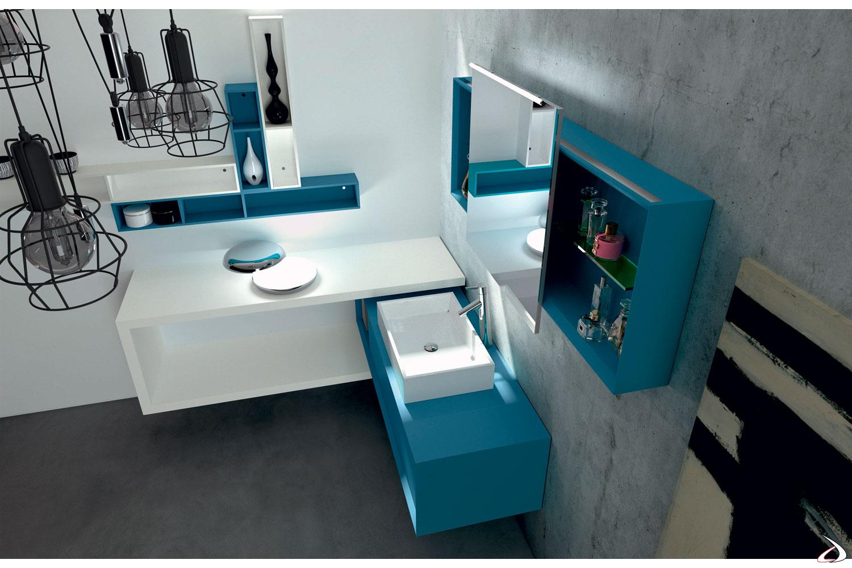 Mobile bagno moderno angolare