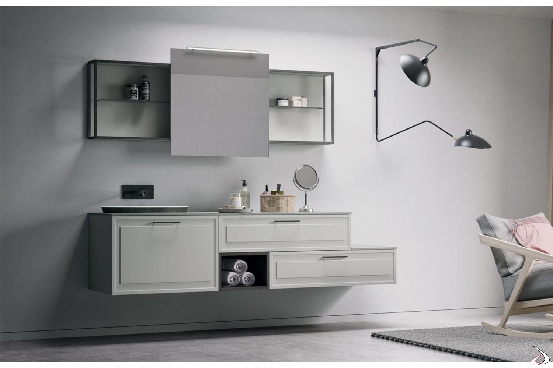 Arredo Bagno Classico Sospeso.Efesto Bathroom Cabinet With Sliding Door Mirror Toparredi