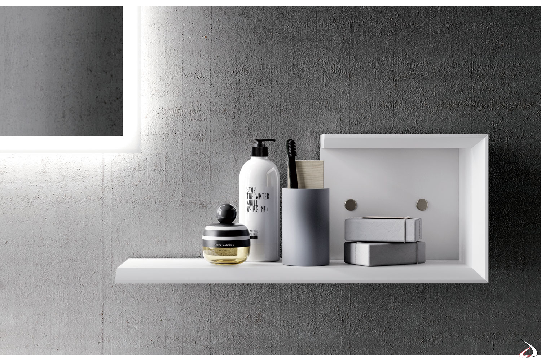 Mensola contenitore bagno design