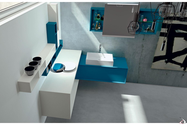 Lavabo Ad Angolo Con Mobiletto.Arredo Bagno Ad Angolo Oleandro Toparredi Arredo Design Online