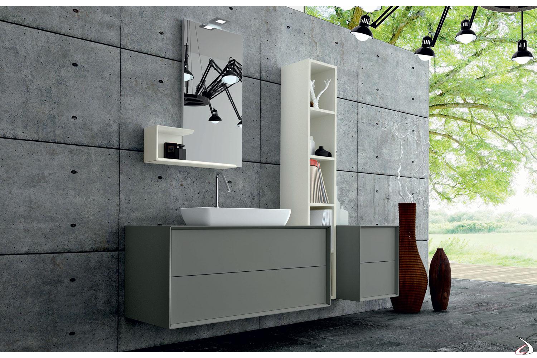 Bagno di design in legno con cassetti push-pull