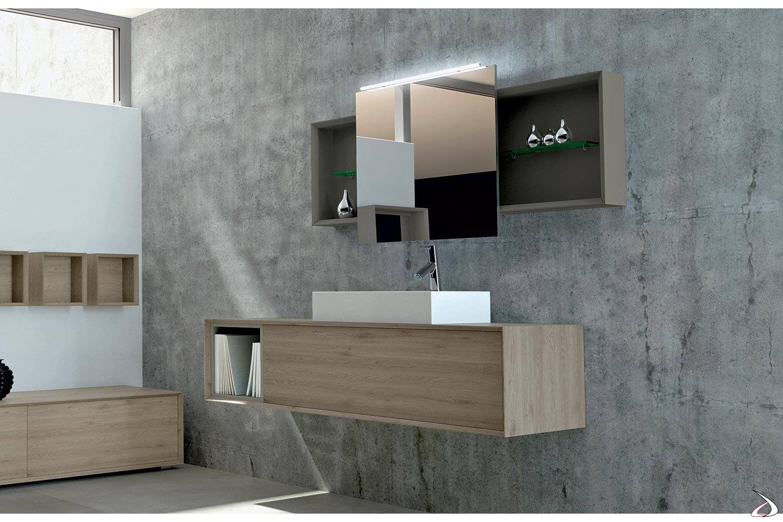 Mobile Bagno Specchio Contenitore.Bagno Moderno Componibile Rigel Toparredi Arredo Design Online