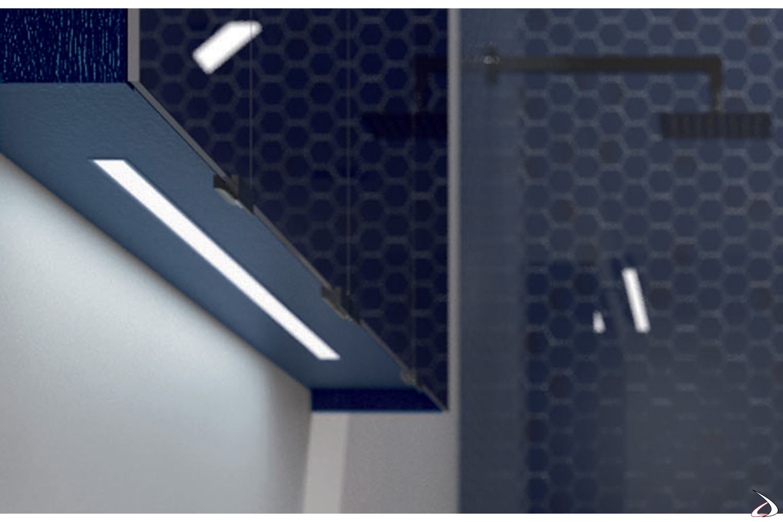 Specchiera moderna da bagno contenitore con luce led integrata