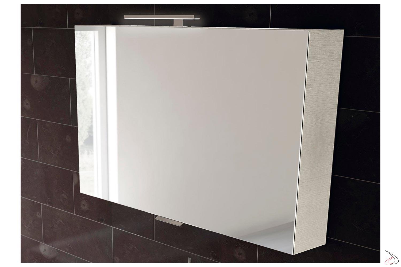 Specchio moderno con anta a ribalta da bagno contenitore
