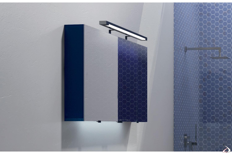 Specchiera moderno contenitore da bagno con luce led inferiore