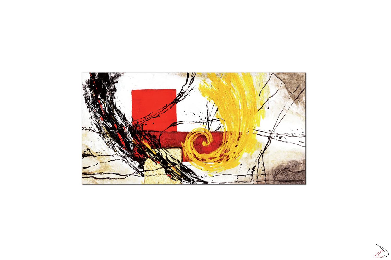 Quadro moderno con immagine astratta, Tornado Oro