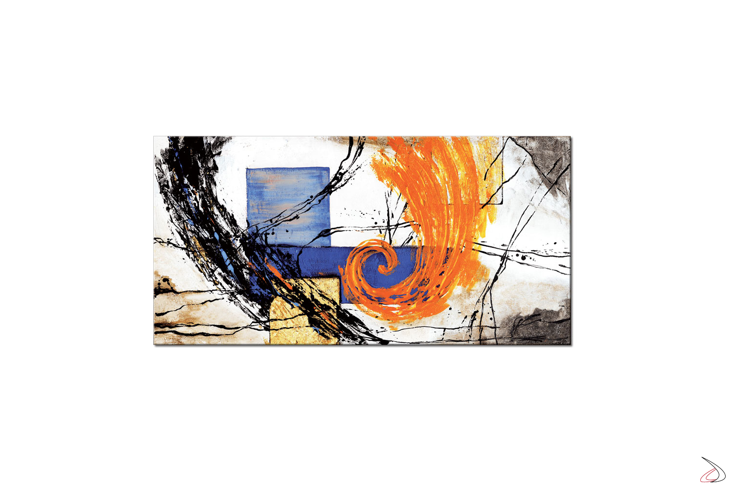 Quadro moderno con immagine astratta, Tornado Orange