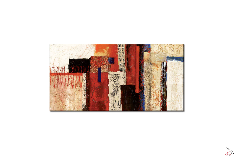Quadro moderno con stampa astratta su telaio.