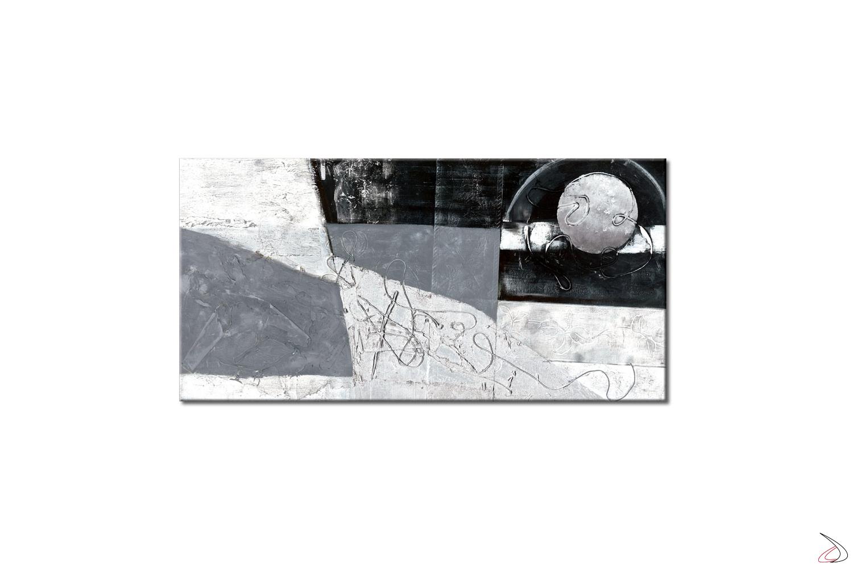 Quadro astratto su telaio, White Ball