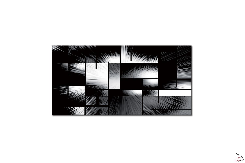 Quadro moderno con sfumature di grigio stampato su tela o vetro, Infinito
