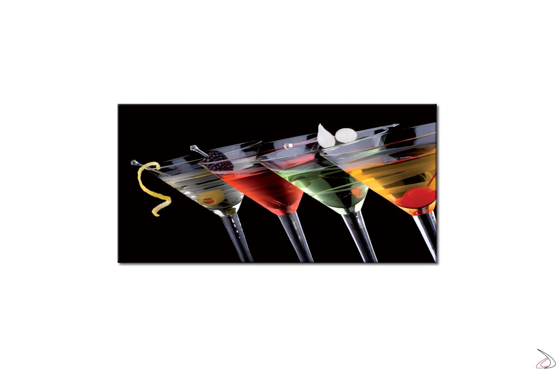 Quadro moderno stampato su tela o vetro, Cocktail