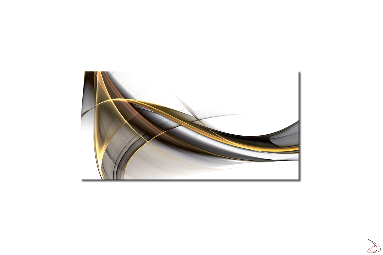 Quadro moderno stampato su tela o vetro, Flussi