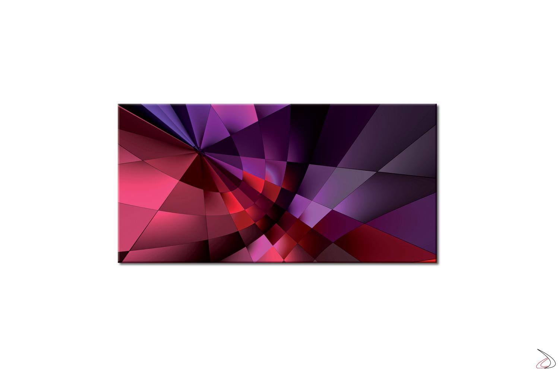 Quadro moderno stampato su tela o vetro, Ritagli Viola
