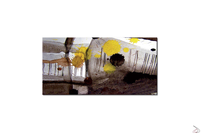 Quadro astratto stampato su tela o vetro, Gocce