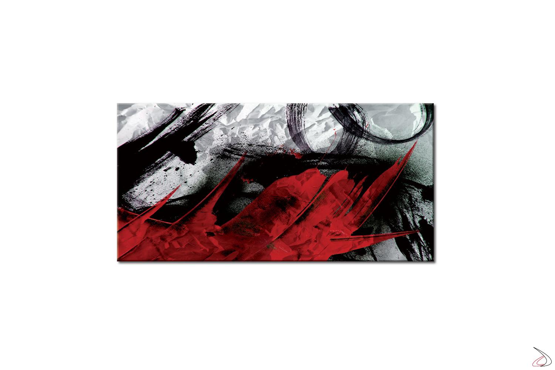 Quadro astratto stampato su tela o vetro, La Tormenta