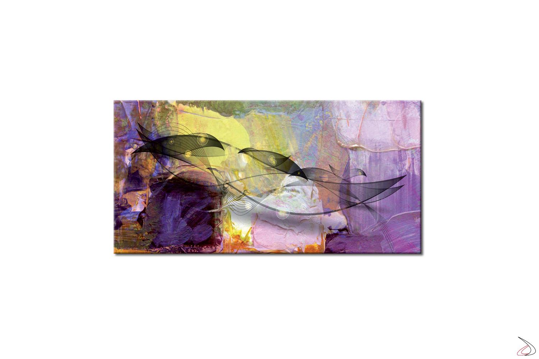 Quadro astratto stampato su tela o vetro, Veli