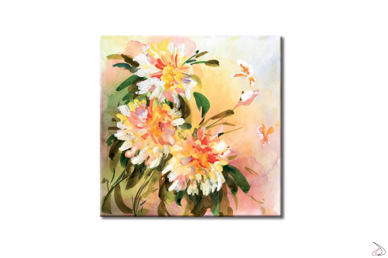 Quadro arredo con soggetto floreale