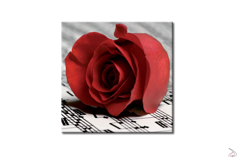 Quadro moderno, Rosa Rossa