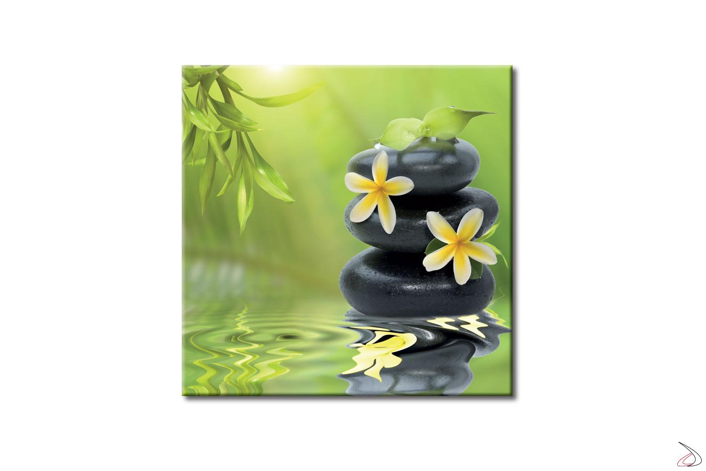 Quadro d'arredo con immagine floreale, Fiori di Bambù