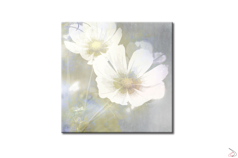 Quadro d'arredo con immagine floreale, Fiori di Loto