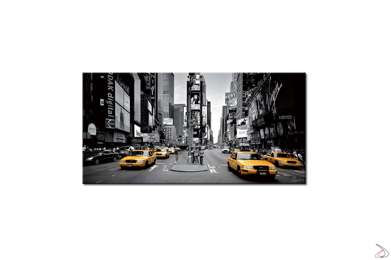 Quadro moderno, taxi gialli a New York