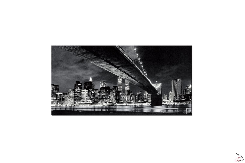 Quadro moderno in bianco e nero New York by night