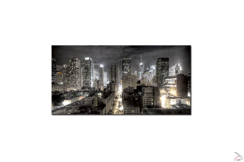 Quadro moderno con vista aerea della citta di New york definita, La Grande Mela