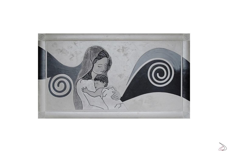 Quadro Maria in finitura argento