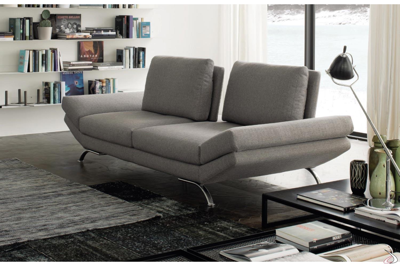 Divano di design a 3 posti con schienali scorrevoli