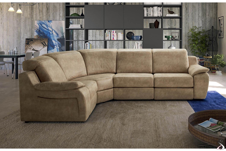Divani Ad Angolo Divani.Corner Sofa With Tamigi Recliner Toparredi Arredo Design Online