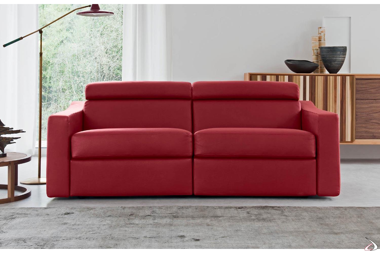Divano In Pelle Con Recliner.Modular Sofa With Tronis Recliner Toparredi Arredo Design Online