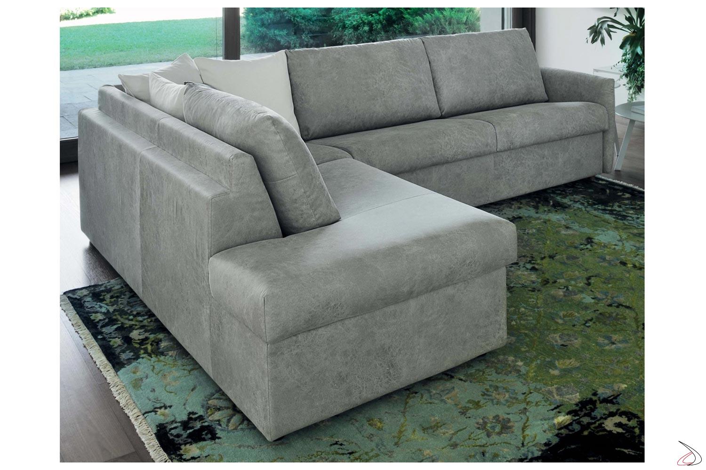 Divani Ad Angolo Con Letto.Alvise Sofa Bed With Chaise Lounge Toparredi Arredo Design Online