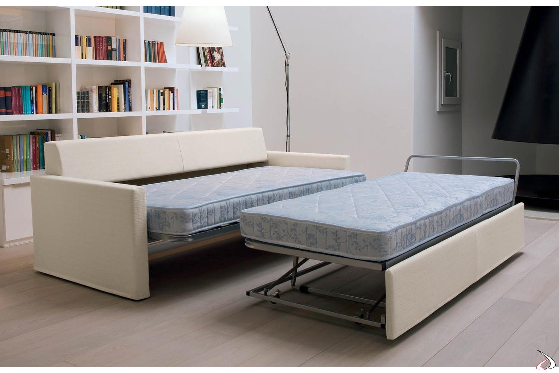 Divano Letto Ortopedico.Sofa Convertible Into 2 Paiper Beds Toparredi Arredo Design Online