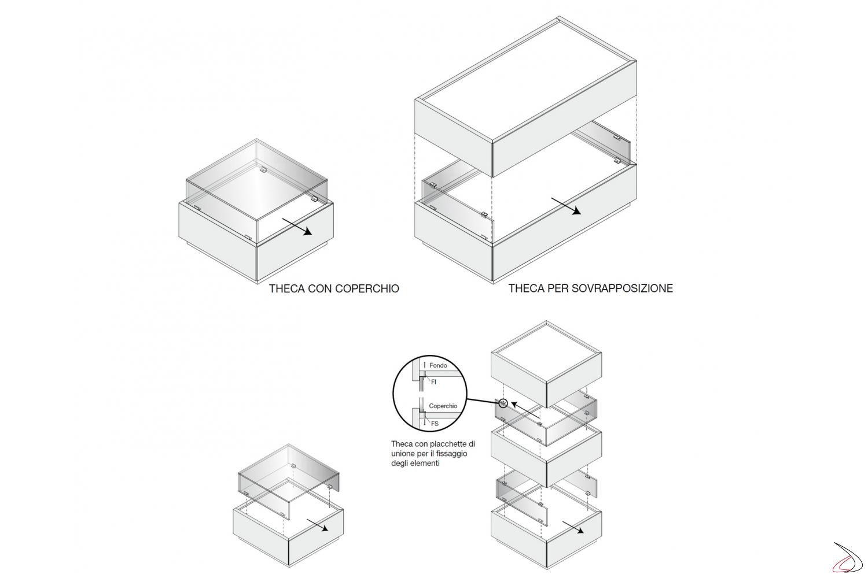 Coperchio in vetro per comodino moderno