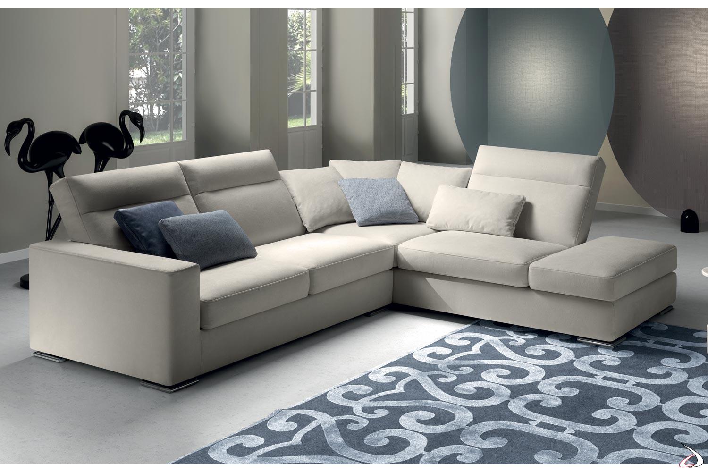 Divano ad angolo di design con schienali reclinabili