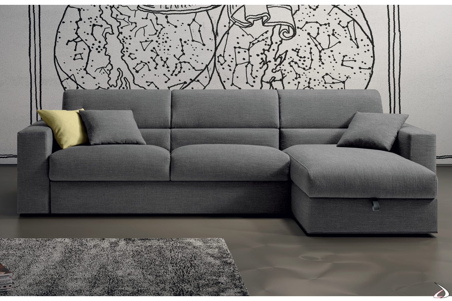 Foto Divano Letto.Laxy Sofa Bed And Storage Peninsula Toparredi Arredo Design Online