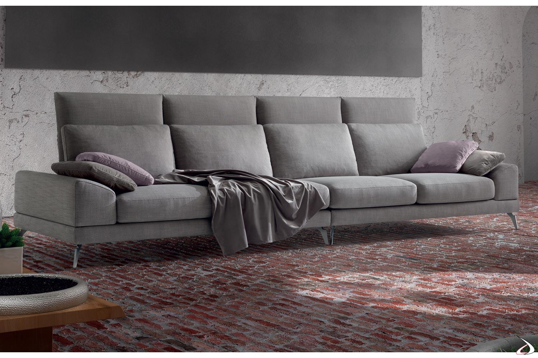 Divano 4 Posti Lineare.Sofa With High Low Back Or Zuper Toparredi Arredo Design Online