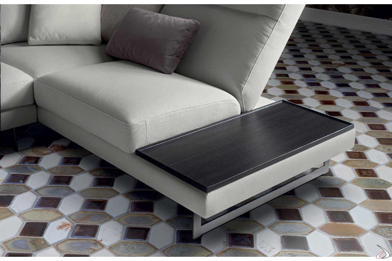 Ripiano per divano con penisola angolare
